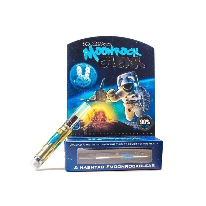 Review: Dr Zodiak's Moon Rock clear cartridge -Jack Herer